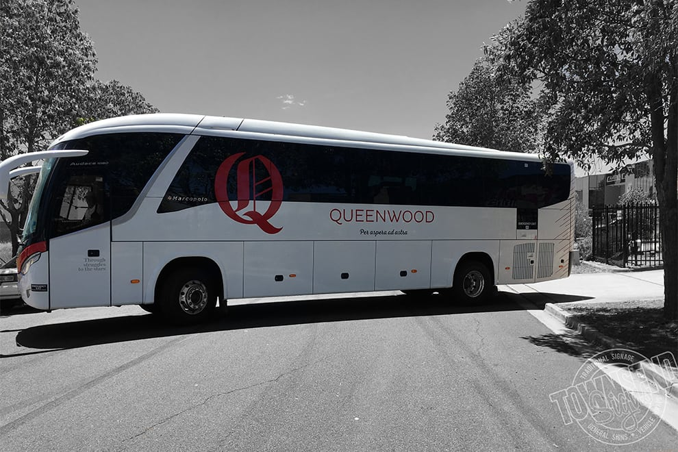 Townsend Signs Bus Wrap Queenwood Coach