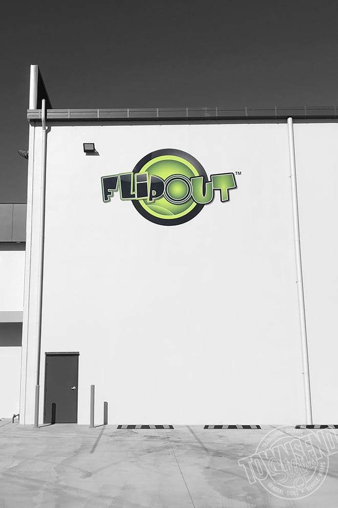 Flipout External Factory Sign