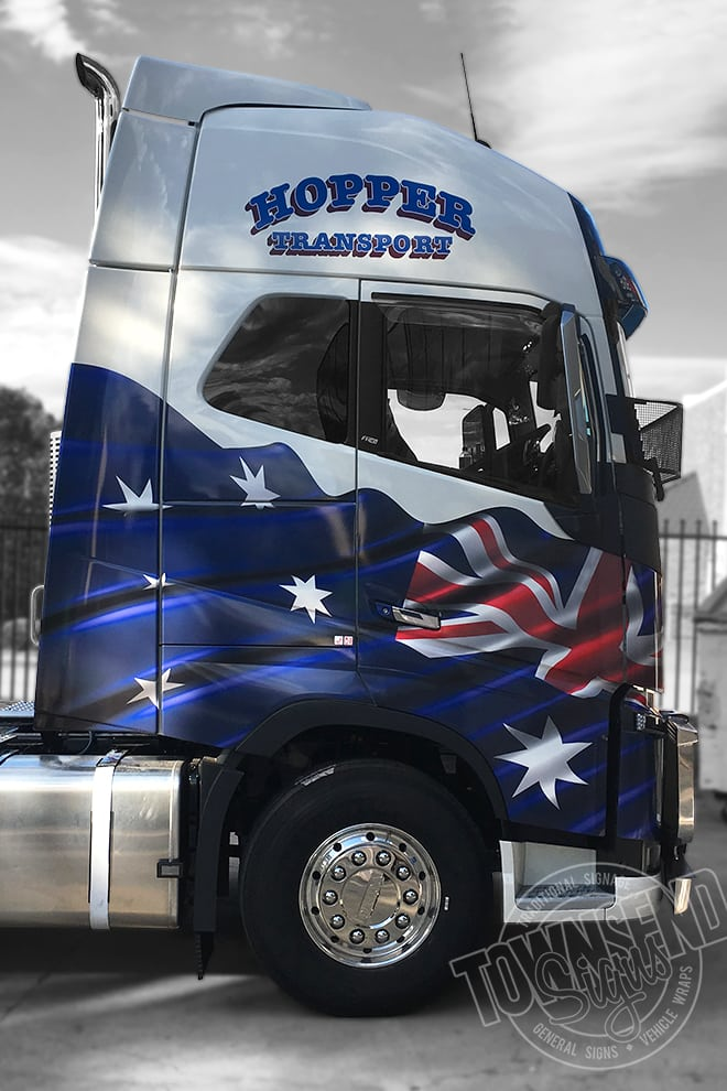 Townsend Signs Hopper Transport