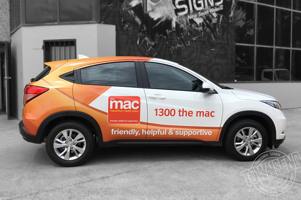 Townsend Signs the Mac fleet wrap